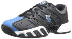 K-Swiss 83027 Bigshot Light Tennis Shoe (Big Kid),Black/Brilliant M US Big Kid. Lightest shoe offered by K-Swiss. Dimensions: 45 - 100 - 100 - 100 - hundredths-inches. Big Kids, Lit Shoes, Racquet Sports, Charcoal, Tennis, Footwear, Athletic, Running, Original Image