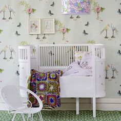 PERROQUET Wallpaper by Nina Campbell www.osborneandlittle.com Available at the DD Building suite 520 #ddbny #osbornelittle