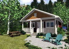 Cottage House Plan 99971 Elevation