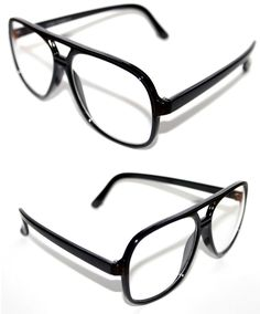 49c384c535d2e Men s Women s Aviator Round Clear Lens Nerd Eye Glasses 80 s frame Black  Frame