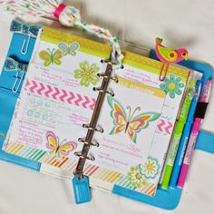 Bits and Pieces...: Last Week in My Gold and Sky Blue Color Crush Planners