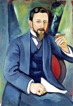 August Macke: Portrait des Schriftstellers E. August Macke, Kandinsky, Franz Marc, Cavalier Bleu, Best Portraits, Painting People, Modern Artists, Vintage Artwork, Portrait Art