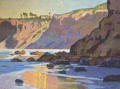 Torrey Pines Reflections by Mark Fehlman Oil ~ 11 x 14