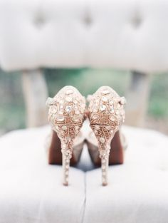 Bejeweled Wedding Shoes | photography by http://www.michelleboydphotography.com