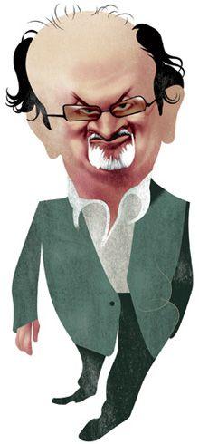 Salman Rushdie by Andre Carrilho