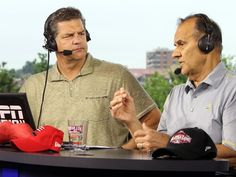 Get 'Mike & Mike' beers at Moerlein Lager House. Photo: Hall of Fame catcher and manager Joe Torre (right) talks with Mike Golic on ESPN'S Mike and Mike show broadcast live from the Moerlein Lager House. The Enquirer/Patrick Reddy