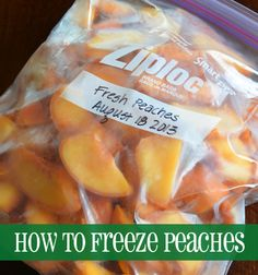 How to freeze peaches. Find great deals at the end of the season and freeze for later! You'll always have it on hand when you need it.