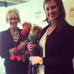 Kathy Broniecki and Sally Morrissey at Envoy Inc. in Omaha. We talked some major monkey business. #smacancer