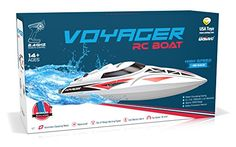 UDI007 Voyager Remote Control Boat for Pools Lakes and Outdoor Adventure  24GHz High Speed Electric RC Boat  includes BONUS BATTERYDoubles Racing Time  Large Size ** Details can be found by clicking on the image.