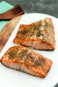 You won't believe how easy this Brown Sugar Smoked Salmon is! The smoked salmon rub is absolute perfection. Ready in less than two hours with five simple ingredients! Traeger Recipes, Grilling Recipes, Fish Recipes, Meat Recipes, Seafood Recipes, Weeknight Recipes, Seafood Dishes, Yummy Recipes, Recipies