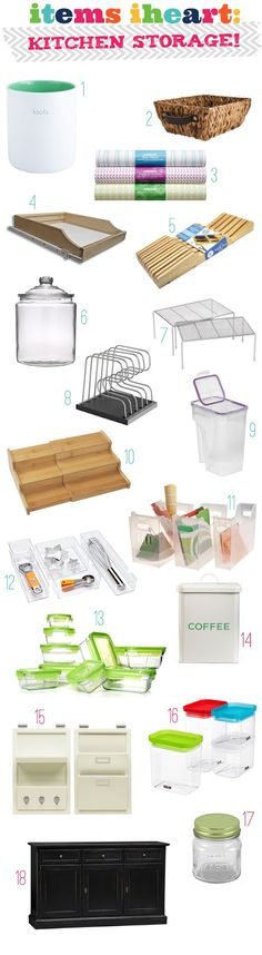 Great Kitchen Storage ideas from I Heart Organizing