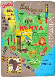 Illustrated Map of East Africa