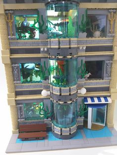 Lego Aquarium -vote a Lego IDEAS por favor - Arquitetura Ideias Lego Zoo, Minifigura Lego, Lego Minecraft, Lego City, Lego Design, Legos, Aquariums, Casa Lego, City Layout