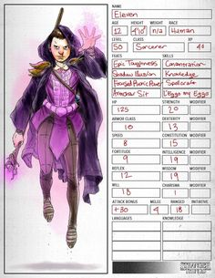 Eleven Reimagined as a Dungeons & Dragons Character - Bob Al-Greene