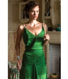 Keira Knightley in Atonement. This green dress was epic.