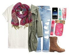 """""""slouch scarf"""" by harknessl ❤ liked on Polyvore featuring Genetic Denim, H&M, Overland Sheepskin Co., Bamboo, Lilly Pulitzer, Mophie, Moyana Corigan, modern, women's clothing and women's fashion"""