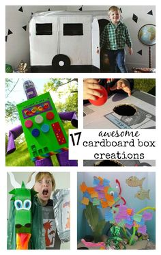 Learning and Exploring Through Play: 17 Awesome Cardboard Box Creations