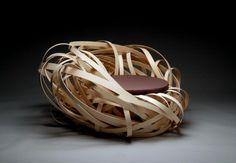 Pasta nest inspired chair