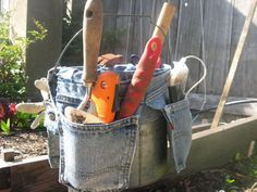 Such a cute way to recycle jeans and make an organized carry bucket. Pad the handle for folks with arthritic grip. 6143_042611_pegboard_craft_xl_rect540