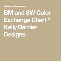 BM and SW Color Exchange Chart * Kelly Bernier Designs