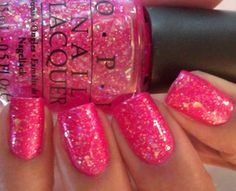 What is not to love sparkly and pink! Possibly Come to Poppy as the base and the top coat is I Lilly Love You