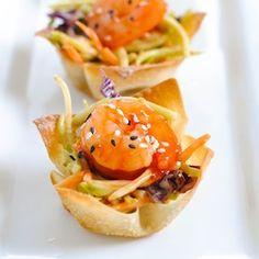 Asian Shrimp Wonton Cups HealthyAperture.com