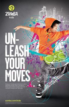 Dance Fitness ideas for intermediate grades from Zumba Kids - Campaign Work by Ben Tallon (via Behance)