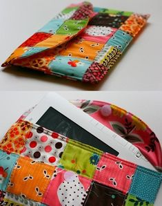 Capas Kindle, Tutorial Patchwork, Carpet Runner, Pattern Making, Ideas Para, Sunglasses Case, Coin Purse, Diy Crafts, Embroidery