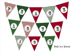 Free Printable Christmas Bunting in 6 different sayings