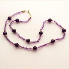 Effortless: Amethyst Necklace Handmade in Maine by HarvestGoldJewelry on Etsy https://www.etsy.com/listing/210551396/effortless-amethyst-necklace-handmade-in