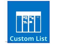 How to create a Custom List and add columns