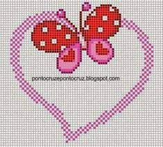 This Pin was discovered by Лог Cross Stitch Boards, Cross Stitch Bookmarks, Cross Stitch Heart, Cross Stitch Animals, Bead Loom Patterns, Beading Patterns, Cross Stitch Patterns, Dot Patterns, Cross Stitching