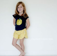The Tulip Short PDF pattern and tutorial - sizes 2t - 10 - childrens sewing pattern - Instant download