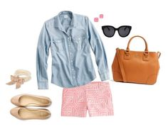 """""""J.Crew Loving"""" by preppy-pea ❤ liked on Polyvore featuring J.Crew, Tory Burch, Cole Haan, Kate Spade, J by Jasper Conran and CÉLINE"""