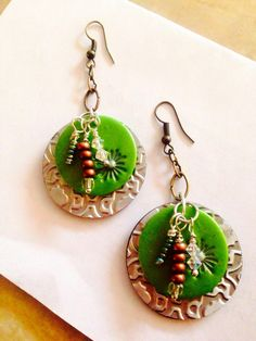 Popcan and polymer earrings on Etsy, $24.00