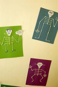 Little Inspirations: Q-tip Skeleton