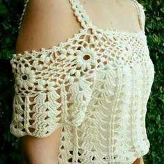 Vestido Ombro A Ombro De Croche Sob Encomendas - R$ 275,00