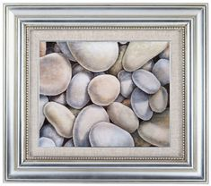 White Original #watercolor #painting of #stones  rocks  by SuayaArt, $90.00