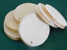 Wood Slices, 6 Alaskan Birch Wood, Craft Supplies, Blank Ornaments, Wood Tags, Wedding Decor, Wooden Ornaments, Christmas, Painting Supplies by TheWoodworkingShop on Etsy
