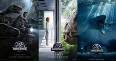 Jurassic World Posters (Raptor Squad, Claire & Indominus Rex and the Mosasaurus). Jurassic World Poster, Jurassic World Wallpaper, Jurassic World Indominus Rex, Jurassic Movies, Jurassic World 2015, Jurassic Park Series, Rudi Carrell, Bryce Dallas Howard, World Movies