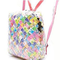 OH i have to try this one a Candy wrapper backpack!!!