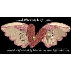{Angels- WingedHeart April Freebie.zip K.H.}  FREE DESIGN - WINGED HEART Embroidery Patterns, Machine Embroidery, Freebies, Free Design, Applique, Coin Purse, Angels, Wings, Zip