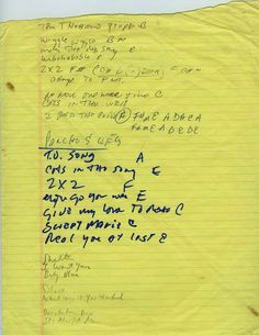 Bob Dylan Set List