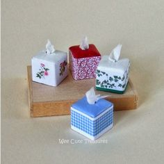 wee cute treasures: Mini Tissue Box Tutorial
