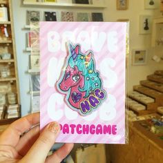 This patch  by @bravekidsclub is too cute there's more in store too! No denim clothing is complete without a few patches  . . #patch #patchgame #patches #embroideredpatch #unicorn #alwaysbeaunicorn #unicornclub #unicornpatch #handmadenotts #handmadenottingham #itsinnottingham #nottingham #independantshopping #buyhandmade #handmade #shoplife #smallbiz #shopindependent #shop #notts #nottingham