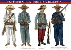 ENLISTED-MENS-UNIFORM-1898-1902 The Army of the First Philippine Republic aka Ejercito Filipino.