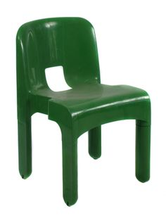 Green Stacking Chair Universale by Joe Colombo