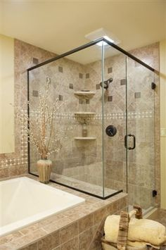 tile and glass bathroom