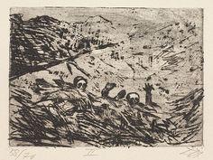 Otto Dix - Buried alive - January 1916, Champagne [Verschuttete - Januar 1916, Champagne]