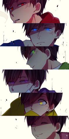Osomatsu-san- Osomatsu, Karamatsu, Choromatsu, Ichimatsu, Jyushimatsu y Todomatsuay que son bien rikolinos estos wachos Anime Chibi, Boboiboy Anime, Kawaii Anime, Anime Love, Hot Anime Boy, Cute Anime Guys, Anime Angry, Dark Anime, Photo Manga